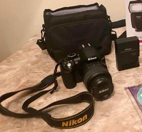 Câmera Digital Nikon Com Carregador De Baterias