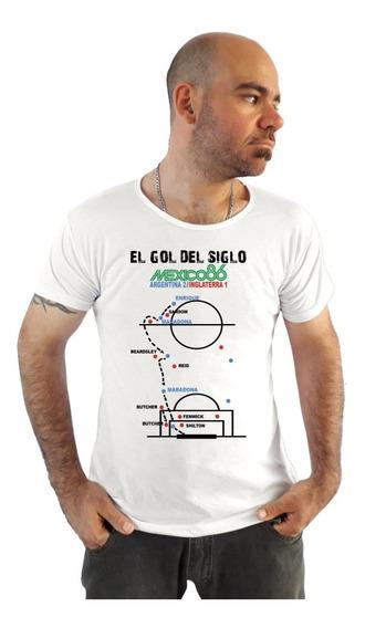 Remera Maradona - El Gol Del Siglo