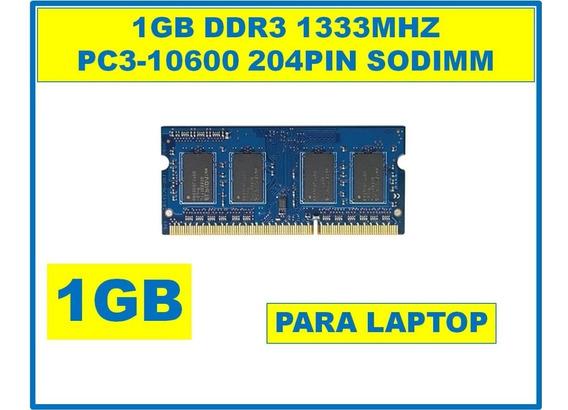 Memoria De 1gb Ddr3 1333mhz Para Portatiles