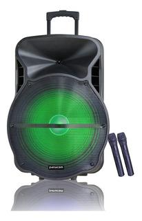 Parlante Panacom Sp-3188wm Bluetooth Usb Bateria 2 Mic Inal