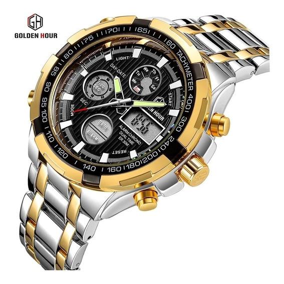 Relógio Dourado Luxo 18k Frete Grátis