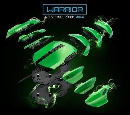 Mouse Gamer Armor 54 Combinações E 8200 Dpi - Warrior Mo247