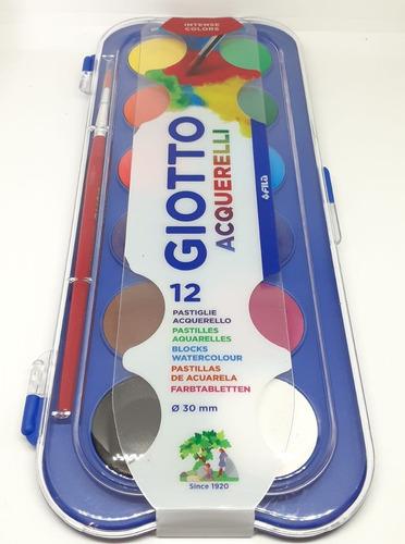 Imagen 1 de 1 de Acuarelas Giotto X 12 Colores + Pincel