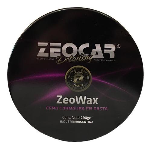 Imagen 1 de 5 de Cera Carnauba 290g Zeocar Zeowax (tratamiento Acrílico)