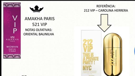 Perfume Amakha Paris 521 Vip Woman Importado Parfum