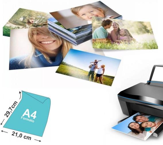 100 Papel Foto Premium Glossy A4 135g (resistente À Água)