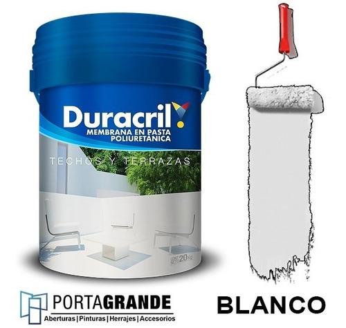 Imagen 1 de 4 de Membrana En Pasta Duracril Poliuretanica X 10 Kg
