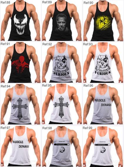7 Regatas Cavada Masculina Academia Musculação Fitness