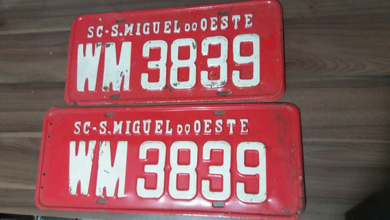 Placa Vermelha Aluguel Carro Caminhão São Miguel Do Oeste