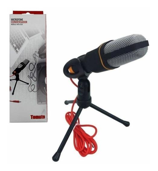 Microfone Condensador Gamer P2 Pc Notebook Streamer