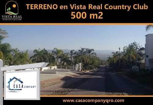 Estupendo Terreno De 500 M2 En Vista Real Y Country Club.-