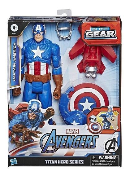 Capitan America Muñeco Avengers Blast Gear 30cm Hasbro Full