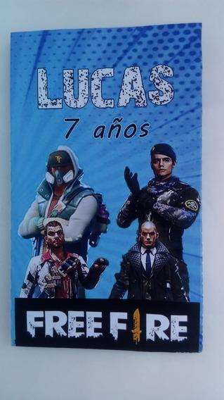 10 Bolsitas Golosineras Cierrabolsa Sticker Free Fire Juegos