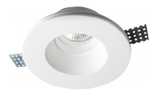 Luminario Empotrar Techo Yeso Blanco 50w