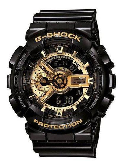 Relógio Casio G-shock Ga110gb 1a Preto Dourado - Réplica