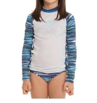 Kit Proteção Solar Menina Upf 50+ Blusa + Biquini Completo
