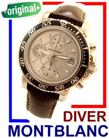 Espetacular Montblanc Sport Diver Crono Auto Aço Lindo !!!