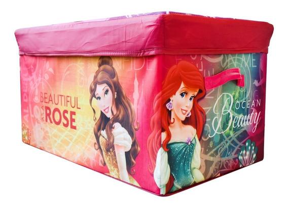Baul De Juguetes Taburete Banca Plegable Disney Princesas