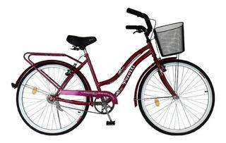 Bicicleta Urbana Full Dama Rodado 26 Paseo Playera Nueva