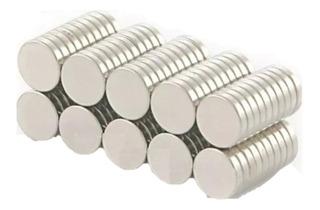 100 Imanes Neodimio De 5mm X 1mm Broche Magnetico Xto