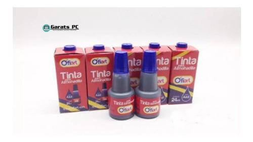 Tinta Para Almohadilla Color Azul 24ml Ofiart X3unid