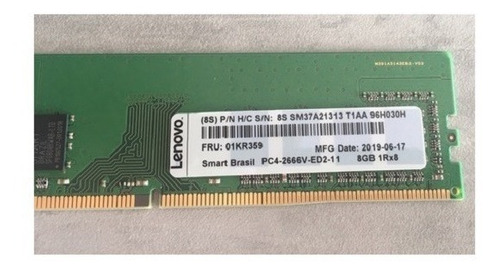 Memoria 8gb Pc4-2666 Rdimm Lenovo Fru 01kr359