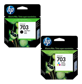 Kit De 2 Cartuchos Hp 703 Tricolor Y Negro