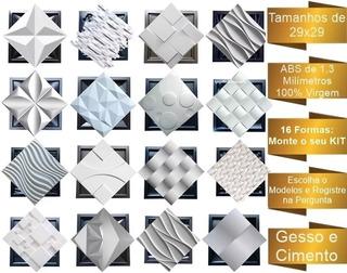 16 Formas De Gesso 3d E Cimento Pra Placas 29x29 Abs 1,3mm