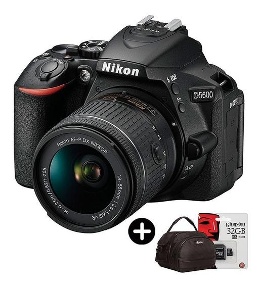 Camara Nikon D5600 Tactil Lente 18-55mm Reflex + Accesorios