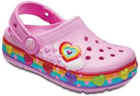 Zapato Crocs Infantil Funlab Corazones Con Luces