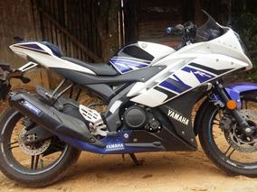 Yamaha R15 Blanco Azul Modelo 2014
