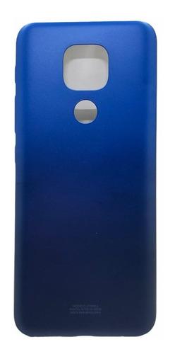 Tampa Traseira Moto E7 Plus Xt2081 Azul S/ Lente - Nova
