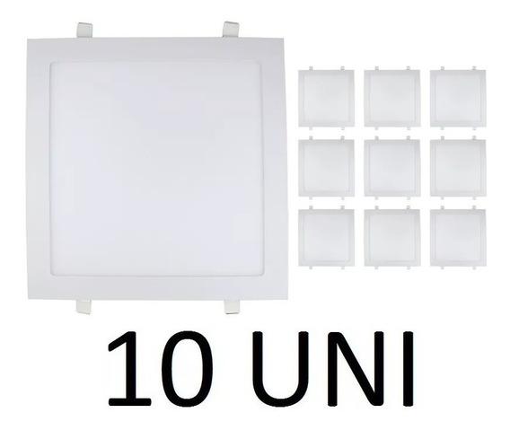 Kit 2 Painel Plafon 25w Led Quadrado Embutir Branco Frio