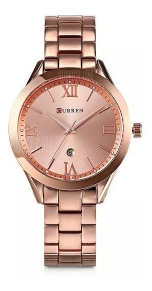 Relógio Curren 9007 Luxo Feminino Top Elegante
