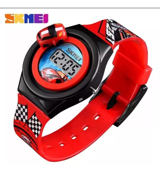 Relógio Infantil Carro Skmei Original Várias Cores Promoção