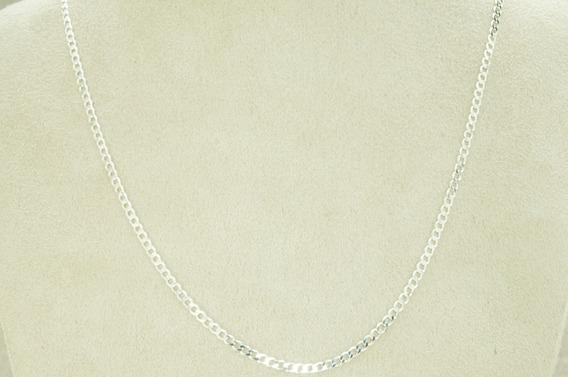Corrente Grumet Flat 3 Mm X 70 Cm (g7,1) Prata 925