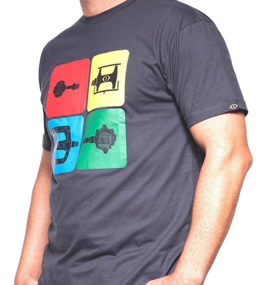 Camiseta De Algodão Bike Parts Preta