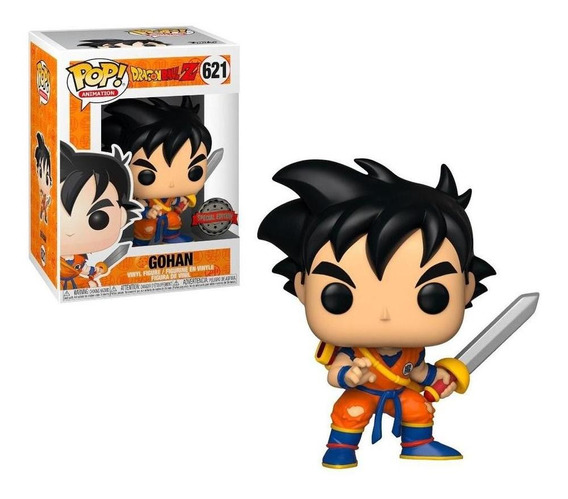 Funko Pop Dragon Ball Z Young Gohan With Sword Ex
