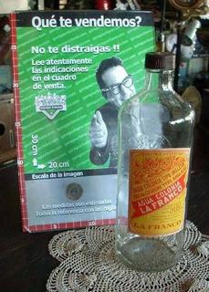 Antigua Botella De Agua Colonia La Franco Vacia Original Año 40 (2944)