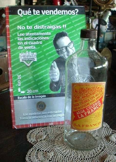 Antigua Botella De Agua Colonia La Franco Vacia Original Año 40 (2944)