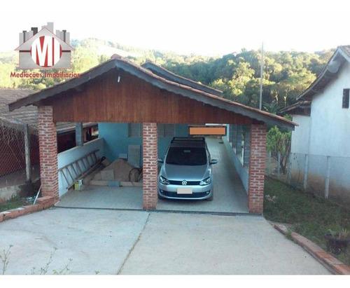 Linda Chácara Com 1 Dormitório, Córrego Nos Fundos, Ótimo Bairro, À Venda, 1100 M² Por R$ 200.000 - Rural - Socorro/sp - Ch0812