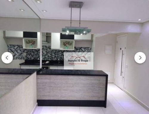 Apartamento À Venda, 64 M² Por R$ 380.000,00 - Ponte Grande - Guarulhos/sp - Ap2688