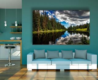 Cuadro Canvas Lago Calidad Premium.