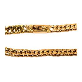 Pulseira Masculina Ouro 18k Elo Grumet Duplo 45g Maciça 0021