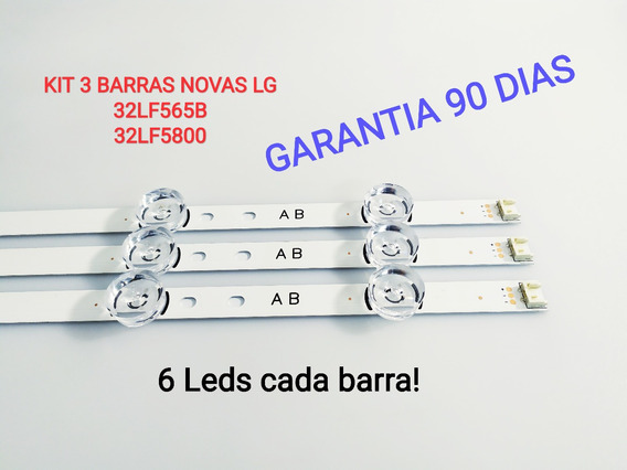 Kit 3 Barras Novas 32lf565b 32lf5800 Lg