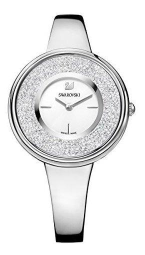 Reloj De Señora Swarovski Crystalline Plata Pura Tono 526925