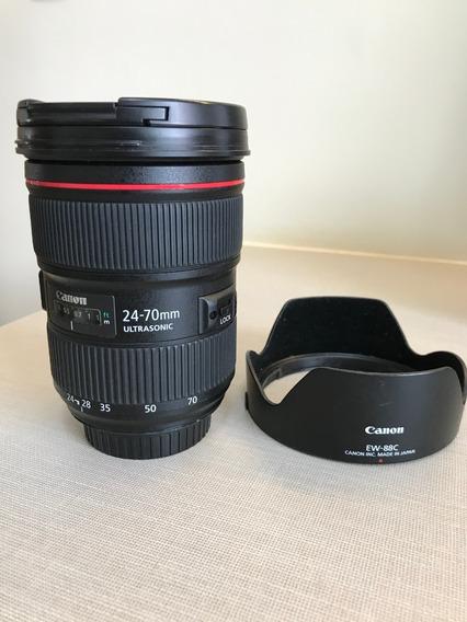 Lente Canon Ef 24-70mm F/2.8l Ii Usm Seminova, Completa