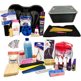Kit Manicure Profissional Completo 35 Itens - Esmalte Lixa