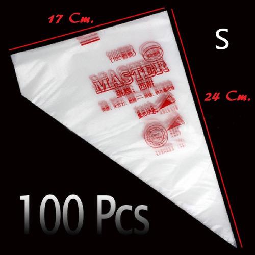Manga Pastelera Plásticas Desechable Pequeñas - 100 Unid.