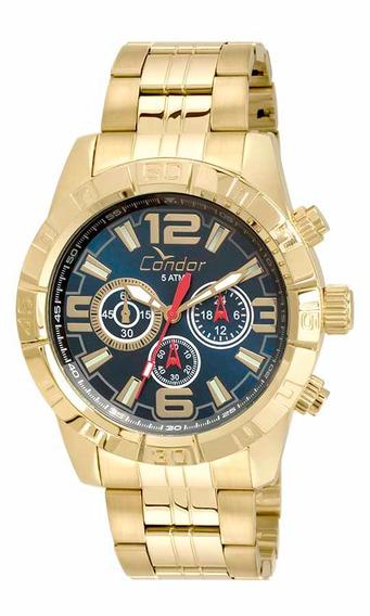 Relógio Condor Masculino Dourado Aço Covd54ar/4a